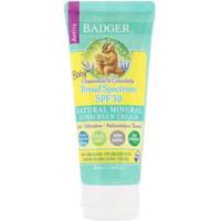 Badger Baby Sunscreen UV Cream SPF 30 (87mL) Badger Sunblok Bayi USA