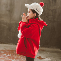 Mantel anak perempuan Hoodie Natal Musim Dingin Baju hangat favorit