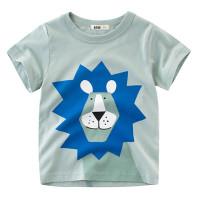 Kaos T-Shirt Katun Anak Laki-laki Lengan Pendek Gambar Kartun Hewan