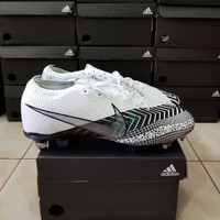 Sepatu Bola Nike Mercurial Vapor13 Elite White Black Fg - soccer bola