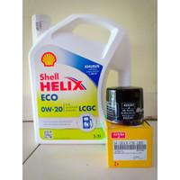 Paket Oli Shell Helix Eco 0W-20 + Filter Oli Suzuki Karimun Wagon R