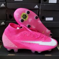 Sepatu Bola Nike Mercurial Superfly7 Elite Mbape Rose Pink Anti Clog