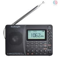 Exm Hrd-603 Radio Am/Fm/Sw/Bt/Tf Saku Portable Dengan Perekam