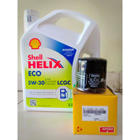 Paket Oli Shell Helix Eco 5W-30 + Filter Oli Datsun Go/ Go+ Panca