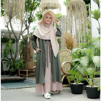 MUFIDA DRESS size S M L XL fashion muslim terbaru matt MOSCREPE HQ