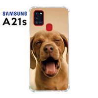 Casing Custom Case Samsung Galaxy A21s Softcase Motif Anjing Lucu 21