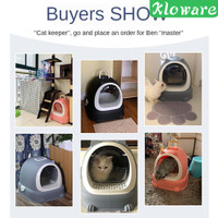 Ultra Automatic Self Cleaning Hooded Cat Litter Box Includes