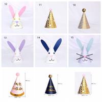 1Pc Topi Ulang Tahun Bayi / Anak DIY untuk Hadiah / Dekorasi Pesta