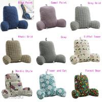 Bed Rest Backrest Reading Pillow Soft Veet air Back Support TV