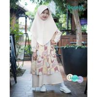 IN667 Basela Kids Arumi Baju Gamis Muslim Anak Perempuan Motif Bunga