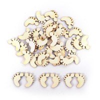 Blowgentlyflower 100PCS Natural Wooden Cute Baby Foot Spacers