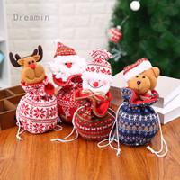 Christmas children's gift bag new Christmas knitting Apple Bag