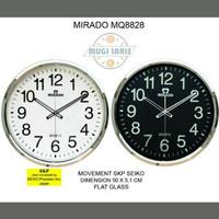 Promo Jam Dinding MIRADO MQ-8828, Diameter 50cm Diskon