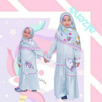 Baju Muslim Anak Perempuan Gamis Daily Dress Unicorn Toska By