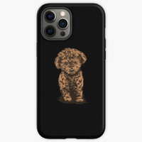 Custom Case iphone 11 12 Pro Max Brown Poodle Puppy Dog Art Image 8 X