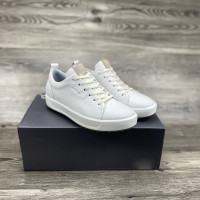 HOT SALE Leather Golf Shoes Men White Yellow Quality Spikless Golf