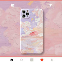 Art Oil Painting Camera Lens Protector Soft IMD Phone Case for IPhone