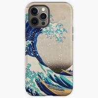 Casing HP iphone 12 11 Xs Pro Japan Wave Art Max 8 Plus case