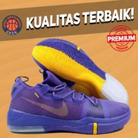 Sepatu Basket Sneakers Nike Kobe AD Exodus Low Lakers Purple Yellow