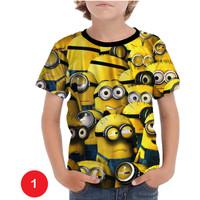 Kaos Minions Anak Baju Serial Kartun Anak #01