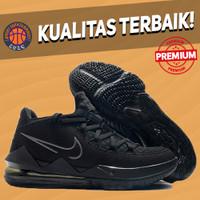 Sepatu Basket Sneakers Nike Lebron 17 Low Triple Black Allblack hitam