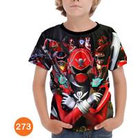 Kaos Power Ranger Ninja Steel 3D Anak Baju Serial Anak #273