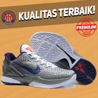 Sepatu Basket Sneakers Nike Kobe 6 Protro China Grey White Blue abu