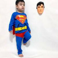 Baju anak kostum superhero superman sayap dc gratis topeng Berkualitas