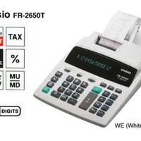 CASIO FR-2650T-WE - Kalkulator Print # Printing Calcula