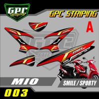 Stiker Striping Mio 110 Smile/Sporty motif racing GPC-003 Berkualitas