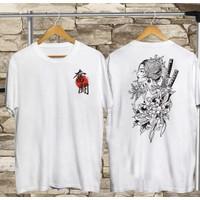 T-shirt Samurai Wanita / Baju Kaos Distro Pria Wanita Cotton 30s