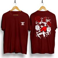 T-shirt Luffy Cerita / Baju Kaos Distro Pria Wanita Cotton 30s