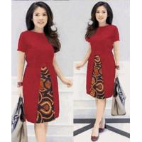 H DRESS ELEGANT Baju wanita cewe kombi batik kerja gereja natal imlek