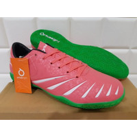 ORIGINAL Sepatu Futsal OrtusEight Blitz IN Light Red White Black Green