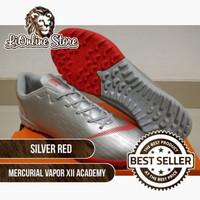 Sepatu Futsal Nike Mercurial Vapor XII Academy Silver Red - TURF