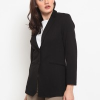 The Executive Long Sleeves Blazer 5-BZWBSC501O003 Black