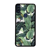 Casing Samsung Galaxy A11 Banana leaf tropical leaf pattern DE0530