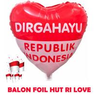 Dekorasi 17 Agustus HUT RI Balon Foil Love Besar 40cm - 5614