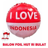 Dekorasi 17 Agustus HUT RI Balon Foil Bulat Besar 40cm - 5613