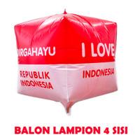 Dekorasi 17 Agustus HUT RI Balon Foil Lampion Kotak Besar 28cm - 5611