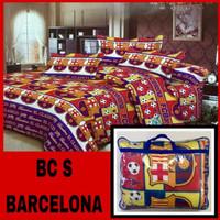 BAD COVER TERMURAH SEBUKALAPAK Bedcover Set Single FCB Barcelona