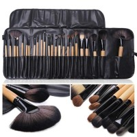 PROMO- ( HITAM 24PC ) KUAS DOMPET MAKEUP FOR YOU BRUSH SET ISI 24 PC