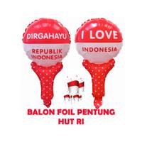 Dekorasi 17 Agustus HUT RI Balon Foil Pentung - 5615