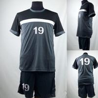 Setelan Baju/Kaos Sepak Bola/Futsal Team/Tim Dewasa Abu Abu