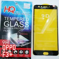 TG FULL Oppo F3+ / F3 Plus Tempered Glass Anti Gores Kaca Hitam