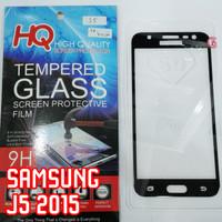 TG FULL Samsung J5 2015 Tempered Glass Anti Gores Kaca Hitam