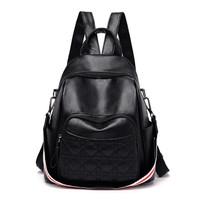 BB391 Tas Ransel Backpack Wanita Import Murah Bahan Kulit Sintetis PU