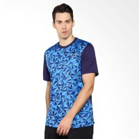 Umbro Velocita Graphic Poly Tee Baju Olahraga Pria - Blue 64418U-ELT