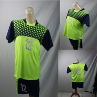 Setelan Baju/Kaos Sepak Bola/Futsal Team/Tim Anak Merah Hijau Muda