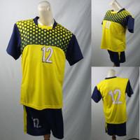 Setelan Baju/Kaos Sepak Bola/Futsal Team/Tim Anak Merah Kuning Langsat